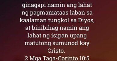 2 Mga Taga-Corinto 10:5, 2 Mga Taga-Corinto 10:5