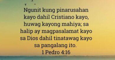 1 Pedro 4:16, 1 Pedro 4:16