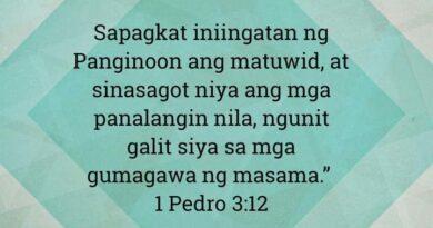 1 Pedro 3:12, 1 Pedro 3:12
