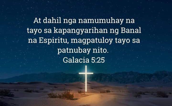 Galacia 5:25