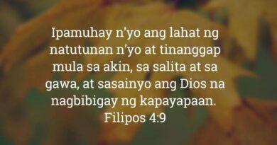 Filipos 4:9, Filipos 4:9