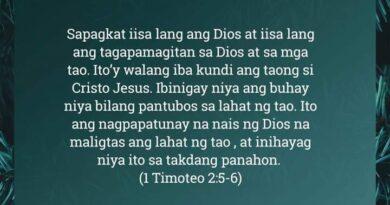 1 Timoteo 2:5-6, 1 Timoteo 2:5-6