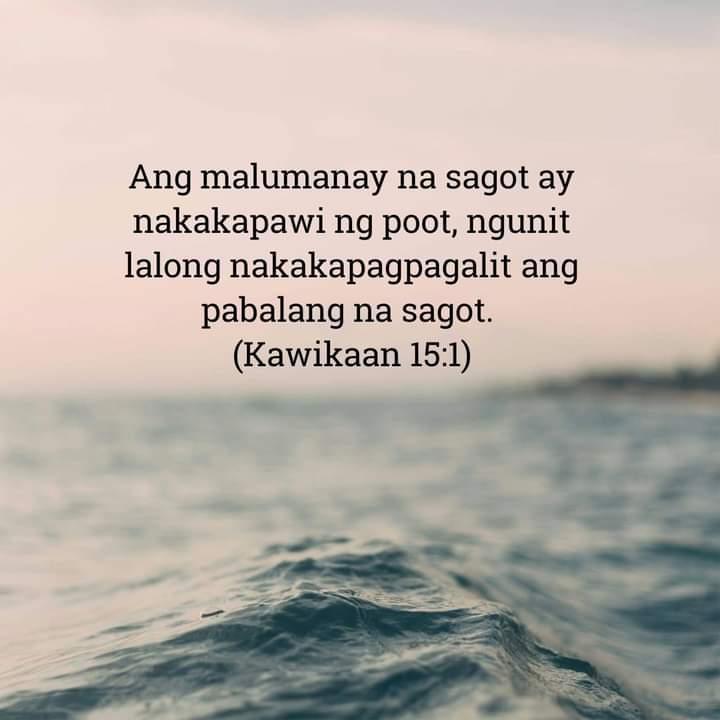 Kawikaan 15:1, Kawikaan 15:1