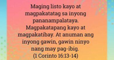 1 Corinto 16:13-14, 1 Corinto 16:13-14