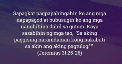 Jeremias 31:25-26, Jeremias 31:25-26