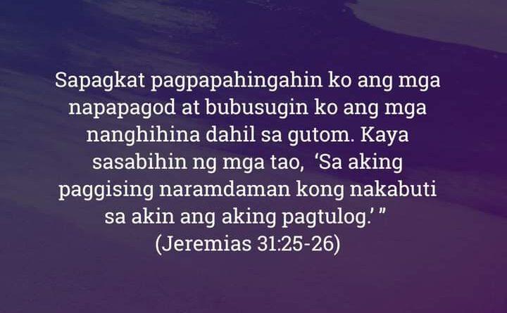 Jeremias 31:25-26