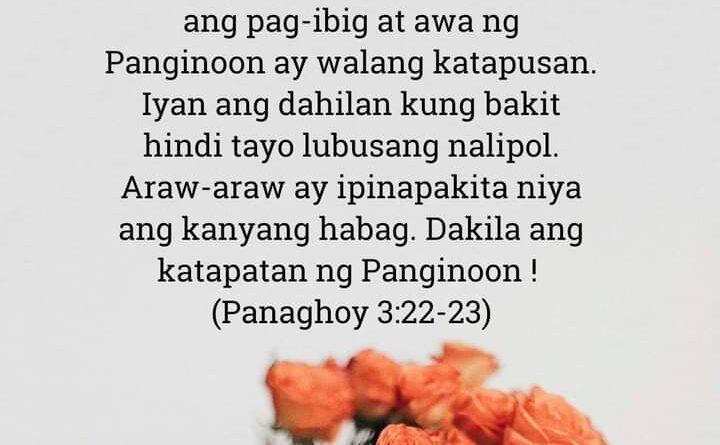 Panaghoy 3:22-23