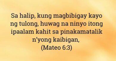 Mateo 6:3, Mateo 6:3