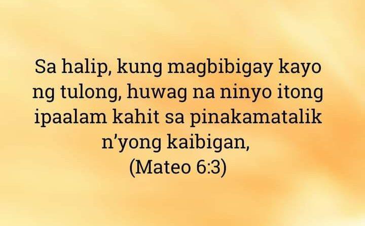 Mateo 6:3