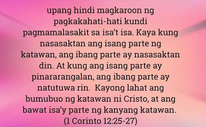 1 Corinto 12:25-27