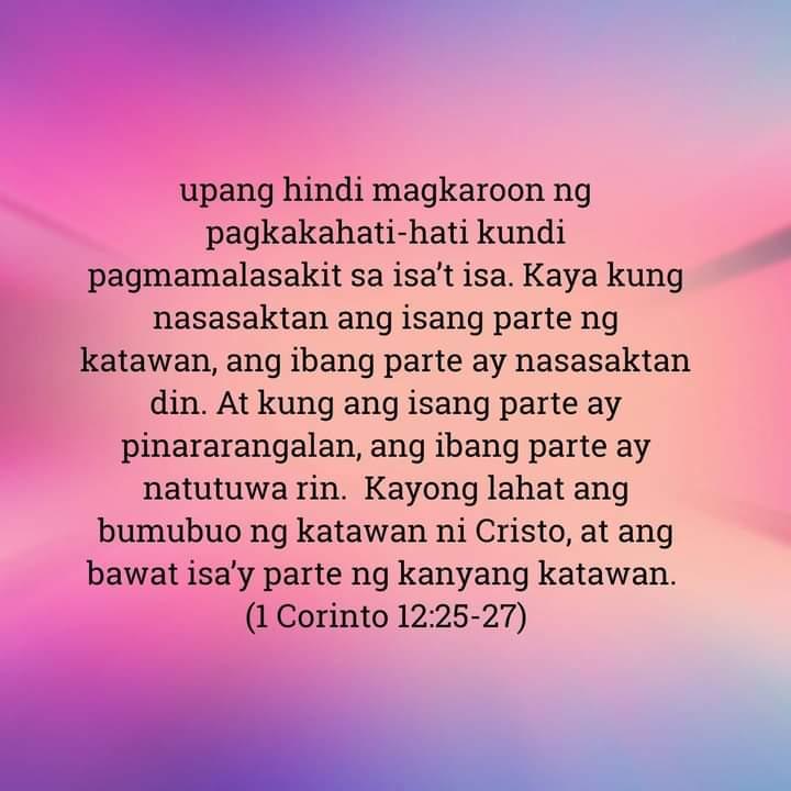 1 Corinto 12:25-27, 1 Corinto 12:25-27