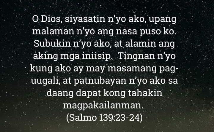 Salmo 139:23-24, Salmo 139:23-24