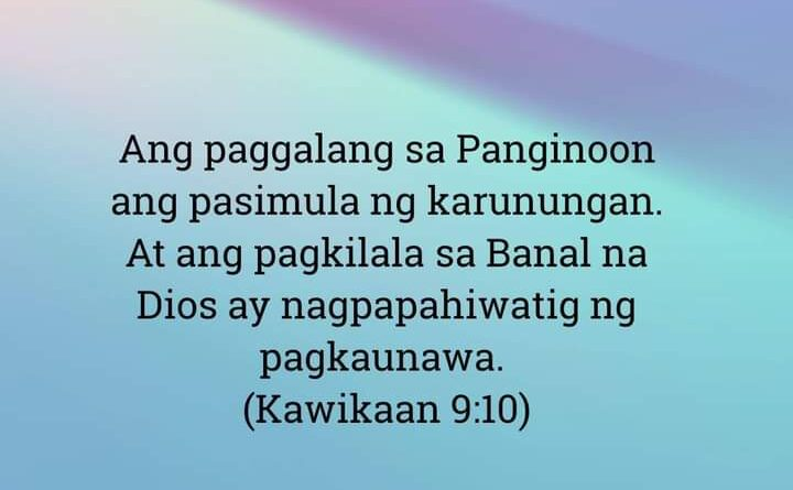 Kawikaan 9:10