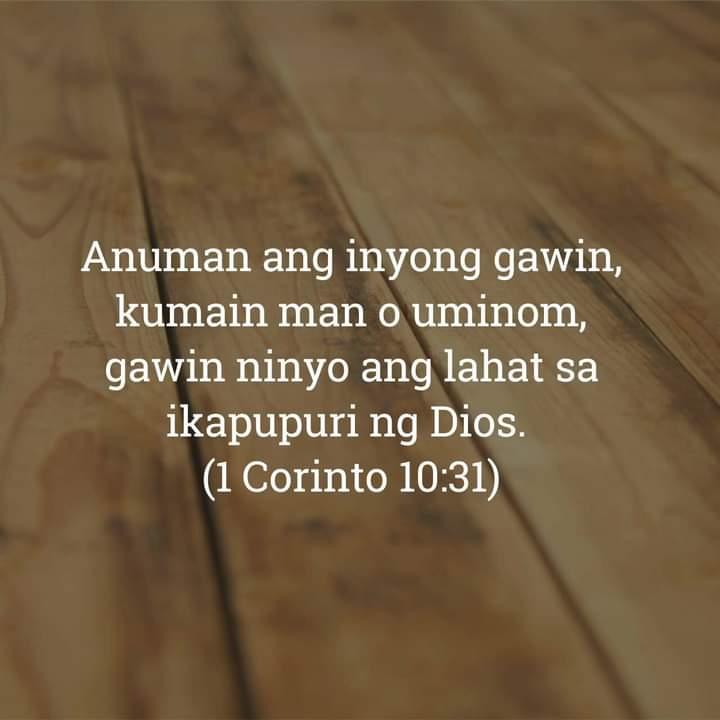 1 Corinto 10:31, 1 Corinto 10:31