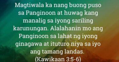Kawikaan 3:5-6, Kawikaan 3:5-6
