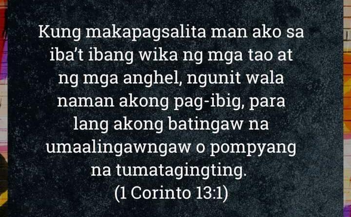 1 Corinto 13:1, 1 Corinto 13:1