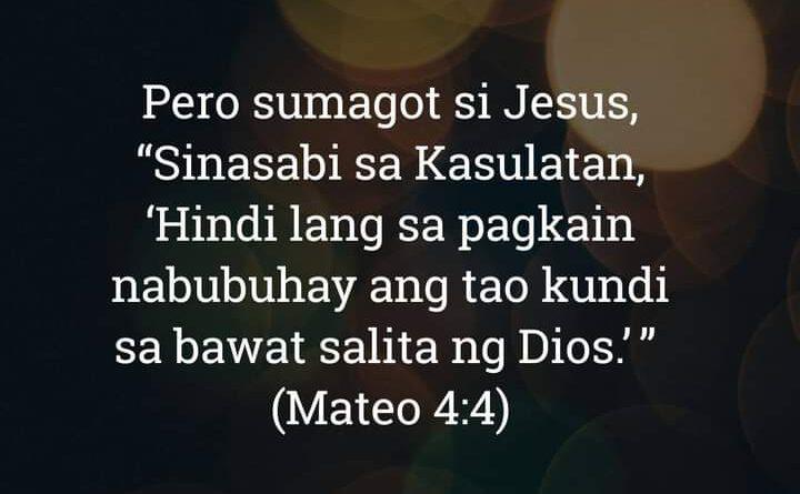 Mateo 4:4