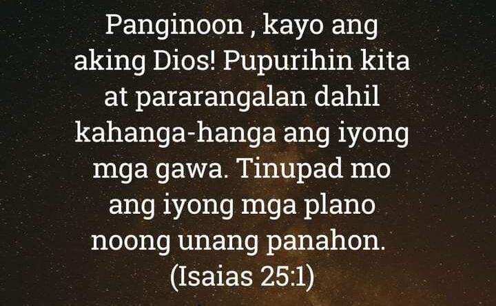Isaias 25:1