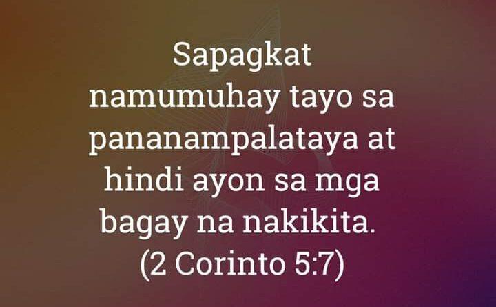 2 Corinto 5:7