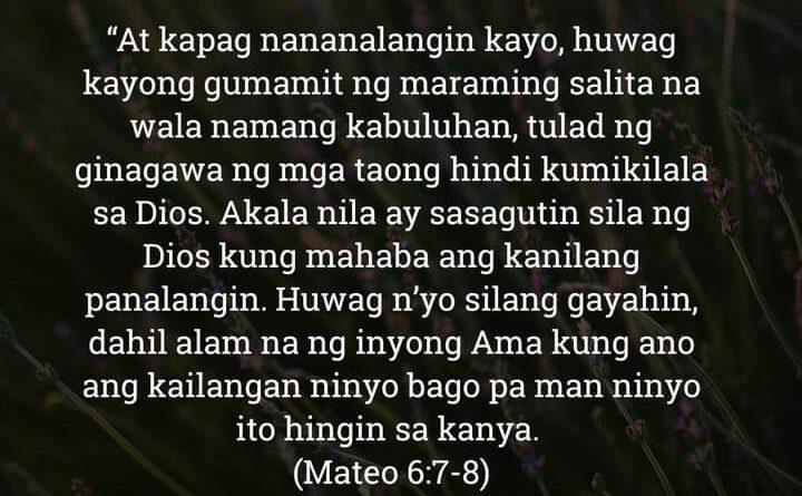 Mateo 6:7-8