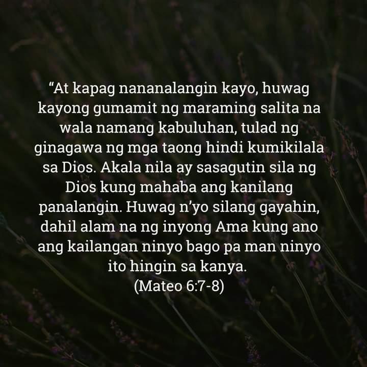 Mateo 6:7-8, Mateo 6:7-8