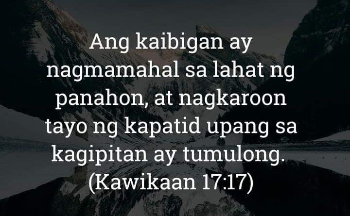 Kawikaan 17:17