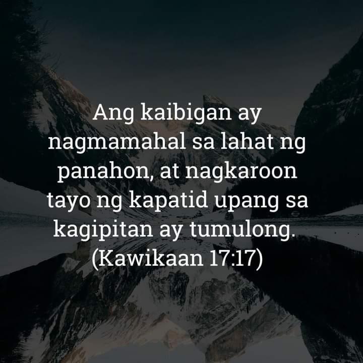 Kawikaan 17:17, Kawikaan 17:17