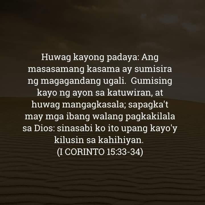 1 Corinto 15:33-34, 1 Corinto 15:33-34