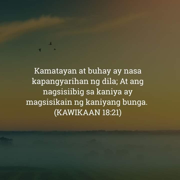Kawikaan 18:21, Kawikaan 18:21